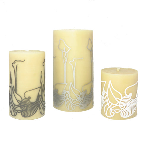 ISCD Queen B design collaboration - bringing designer values to beeswax candles