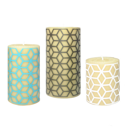 Designer beeswax candles - who thought non toxic could look so good