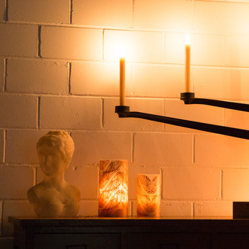 Hand rolled beeswax pillar candles - Seraphina Queen B