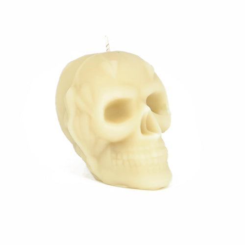 Beeswax Skull Candle from Queen B pure beeswax candles
