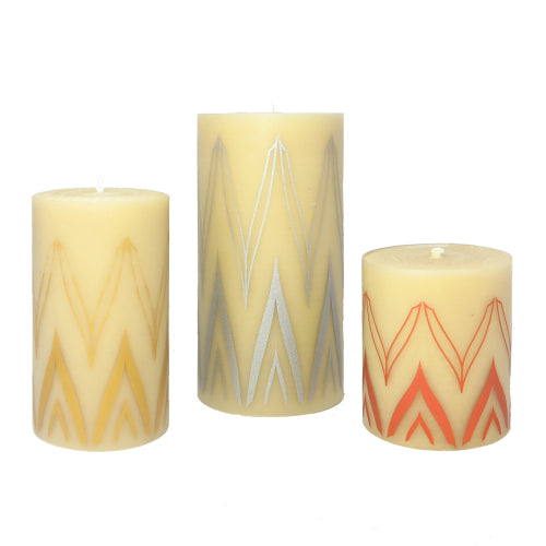Non toxic candles for the stylish home - collaboration ISCD and Queen B pure beeswax candles