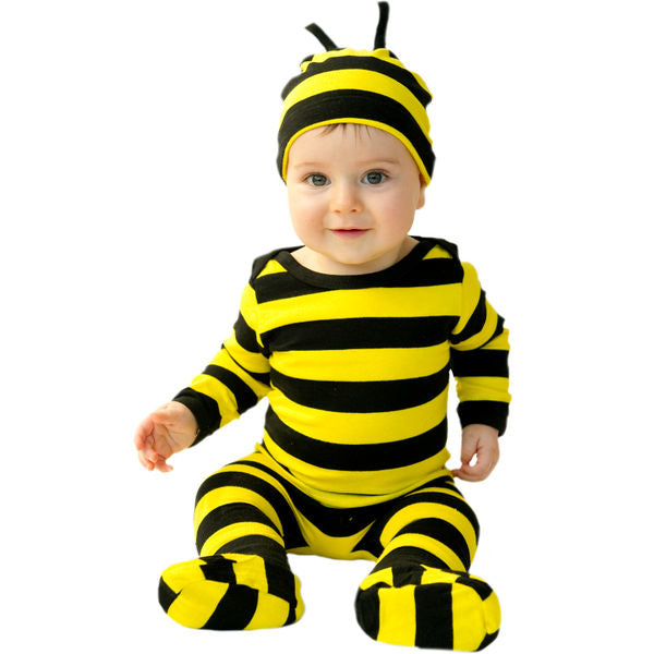 Baby bee cotton romper suit for winter