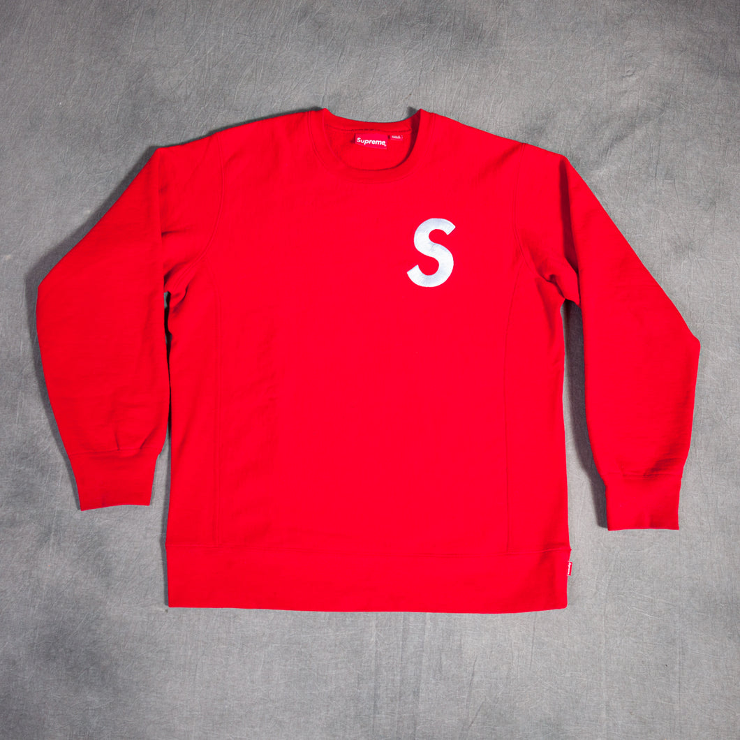 Supreme S Logo Red Crewneck