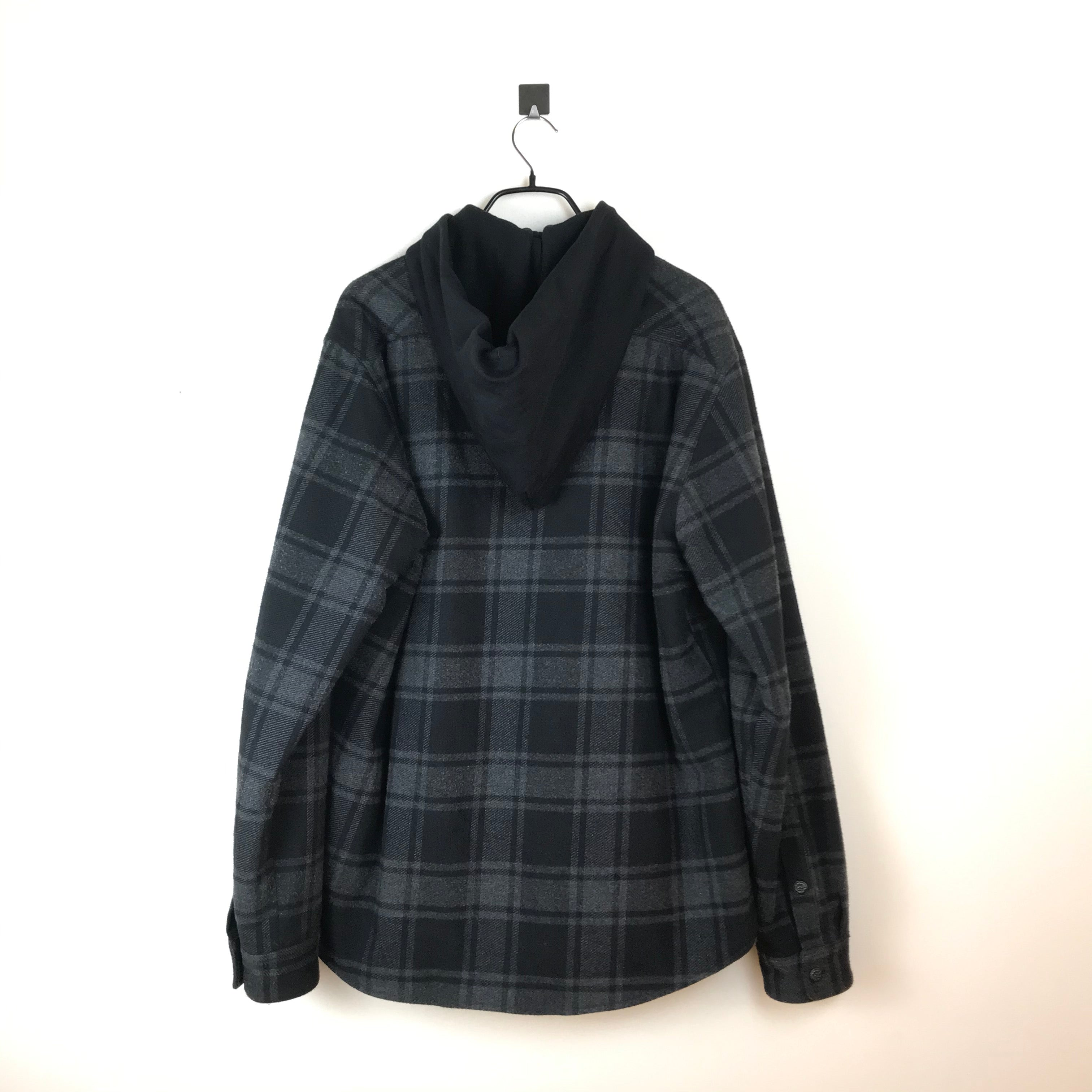 Off-White Hooded Checked Flannel Jacket