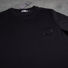Load image into Gallery viewer, Dior Small Logo Black Tee