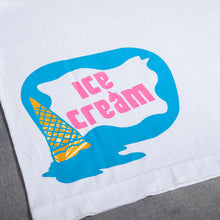 Load image into Gallery viewer, Ice Cream Coneman Logo White Tee