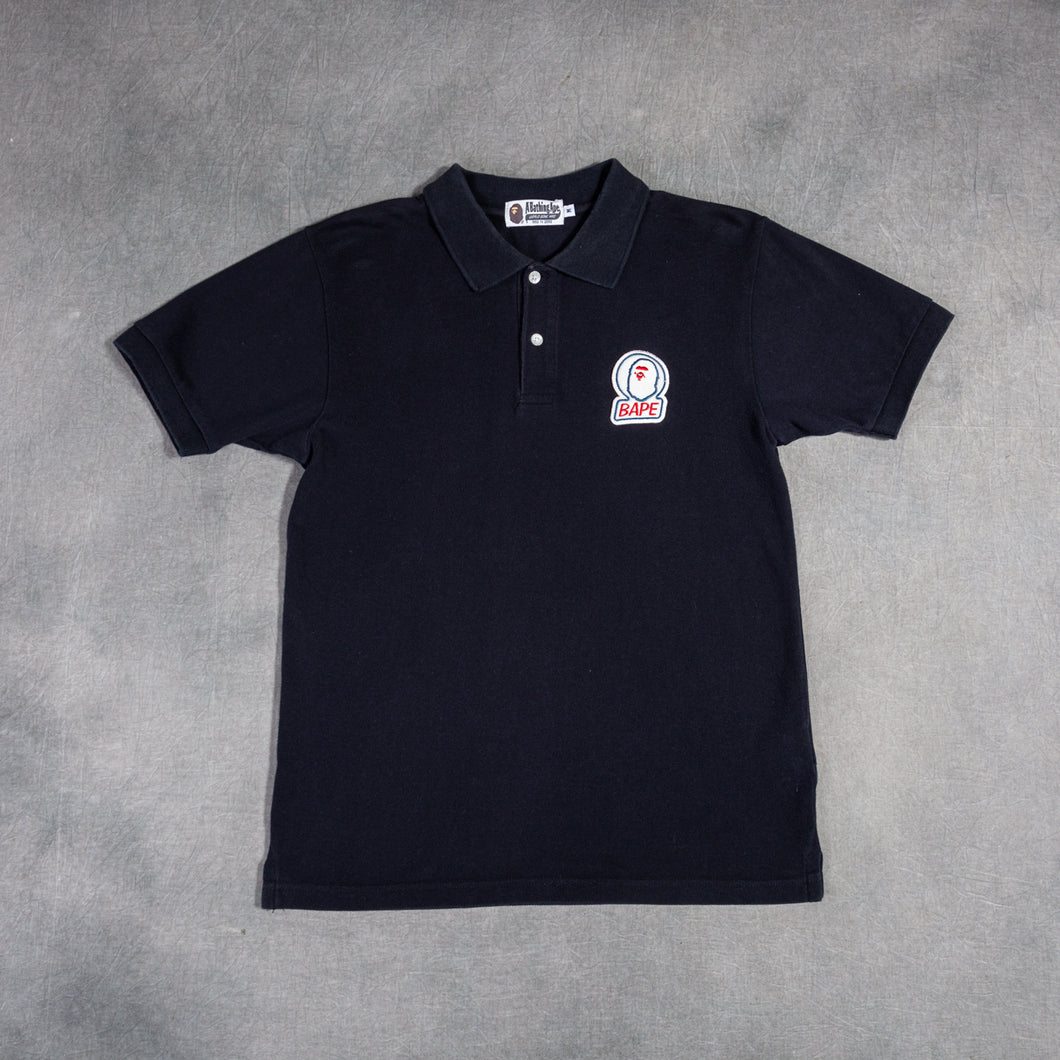 Bape Patch Logo Black Polo