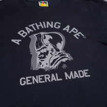 Load image into Gallery viewer, Bape General Ape Logo Black Tee