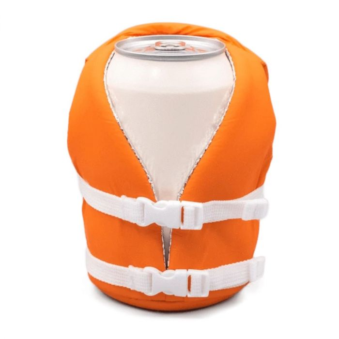 Puffin Life Vest Beverage Coozie