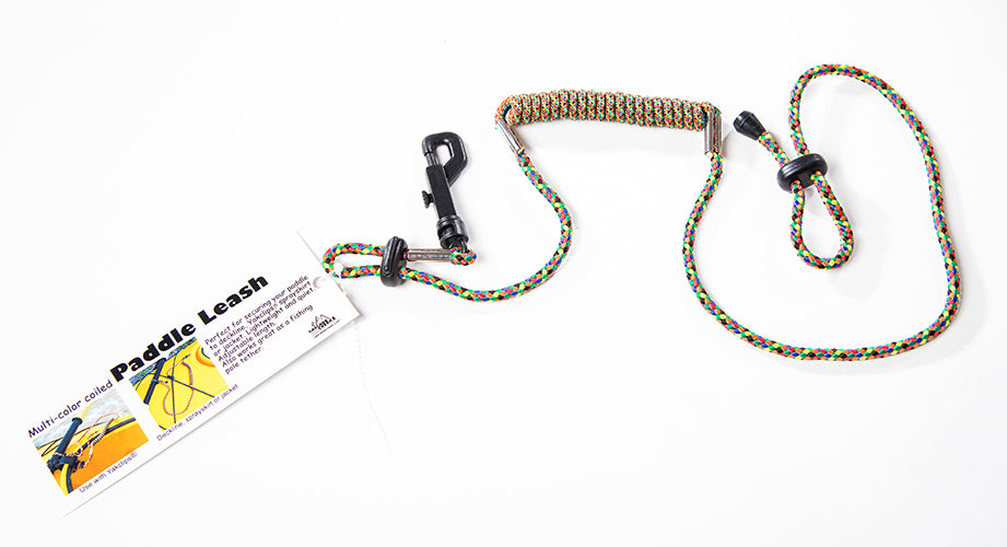 Multi-Color Coiled Paddle Leash