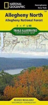Nat Geo TI Allegheny Nat Map North #738 - Gear For Adventure