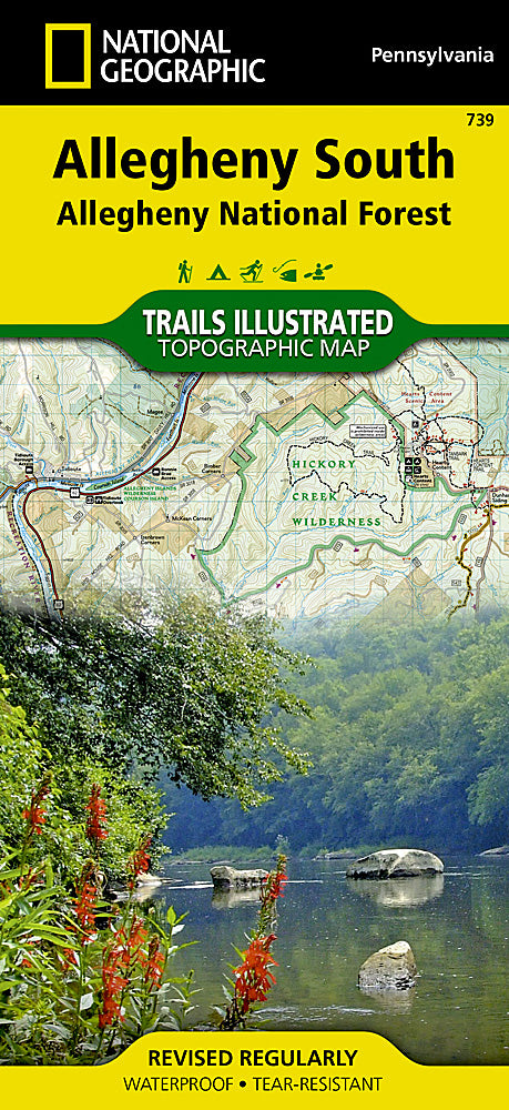 Nat Geo TI Allegheny Nat Map South #739