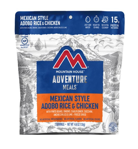 Mountain House Mexican Adobo Rice and Chicken | Serves 2 Clean Label