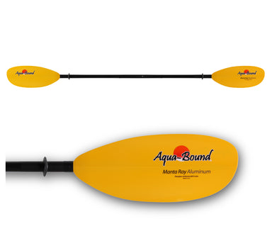 Aquabound Manta Ray Aluminum Kayak Paddle 2 Piece Snap Button - Gear For Adventure