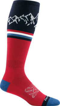 Darn Tough 1899 Men's Alpenglow Light Ski Socks - Gear For Adventure