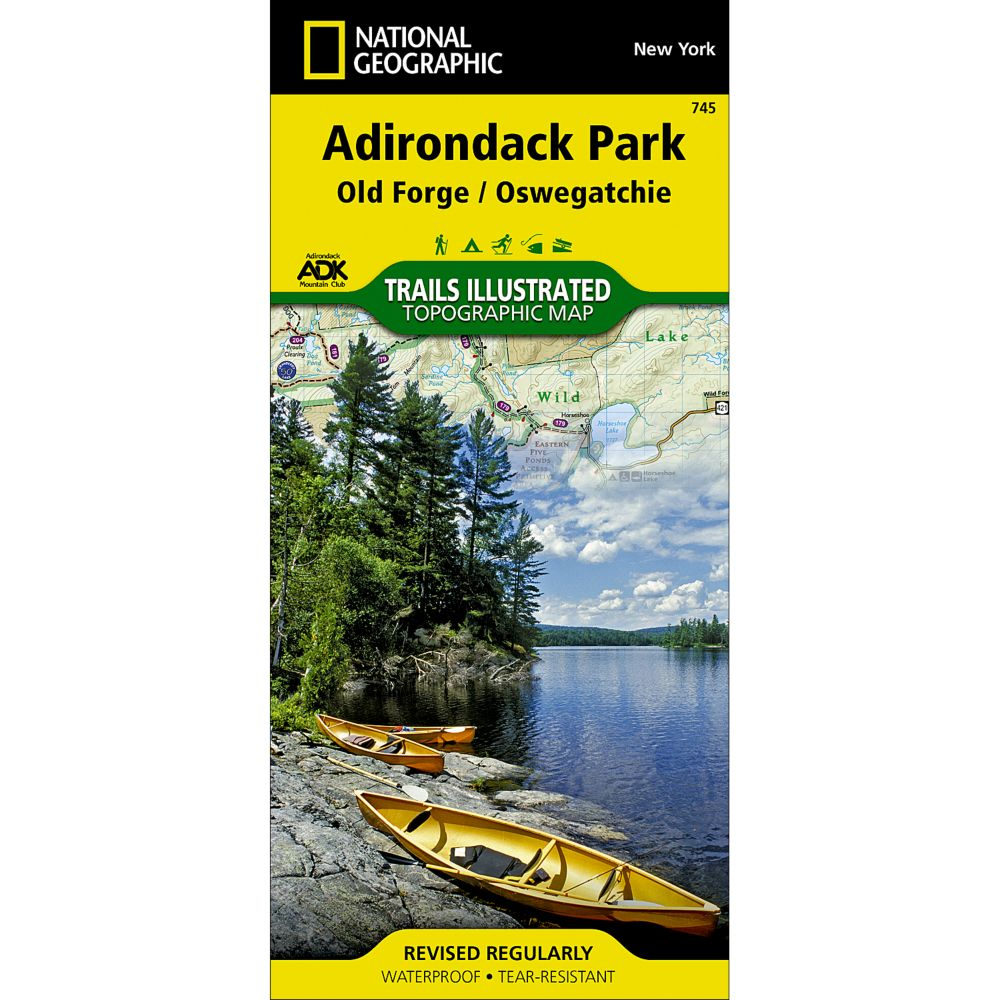 Nat Geo Map TI ADK Old Forge/Oswegatchie #745 - Gear For Adventure