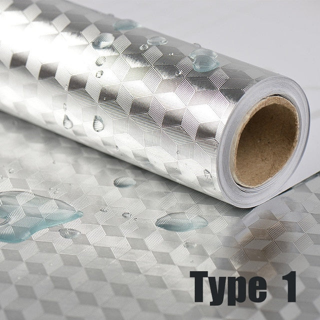 Self Adhesive Oil-proof & Waterproof Aluminum Foil Stickers