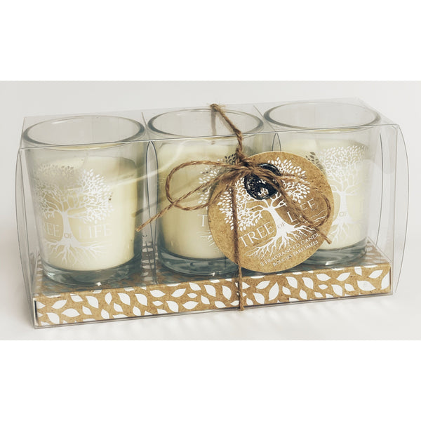 Set of 3 Tree-of-Life Fragranced Candles