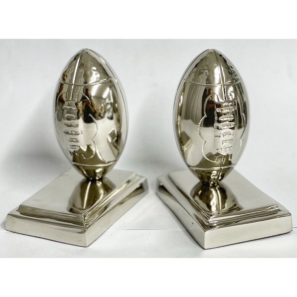 Rugby Ball Bookends (Pair - Hallmarked Silver)
