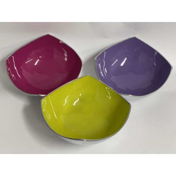 Decorative Square Metal and Enamel Bowls