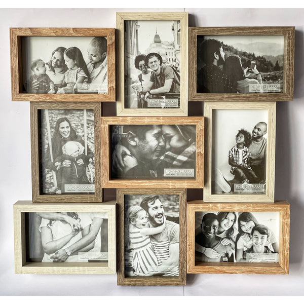 Wall Mounted 6 Picture Frames