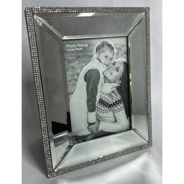 Mirror and Diamante Picture Frame