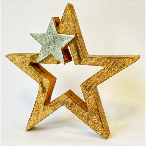 Metal and Wooden Star