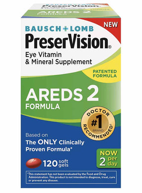 PreserVision AREDS 2 - 120 Soft Gels - 60 Day Supply