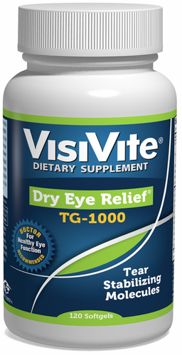 VisiVite Dry Eye Relief TG-1000 Eye Vitamin Formula - 30 Day Supply