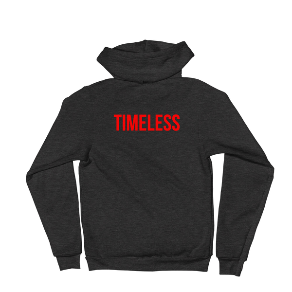 The Classic Timeless Zip Hoodie / Red