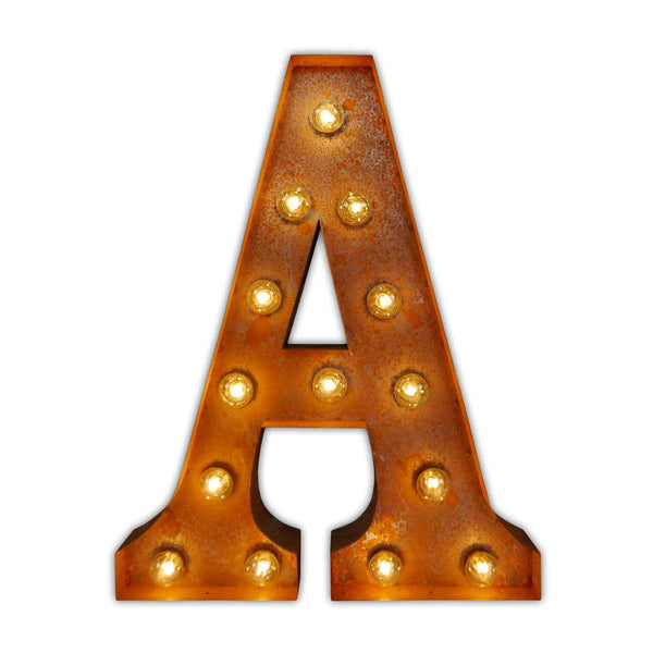 letters with lights letter light a vintage letter lights uk alphabet light 23435 | LETTER LIGHTS A CLEAN FRONT grande