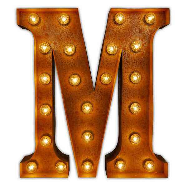 Letter Light M Vintage Letter Lights Uk Alphabet Light