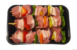 Pork kebab with vegetables (est 0.950 kg)