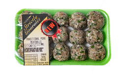 Traditional PORK meatballs (est 0.580 kg)