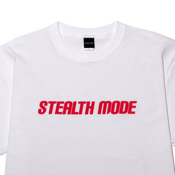 STMD Logo TEE - whitered - StealthMode