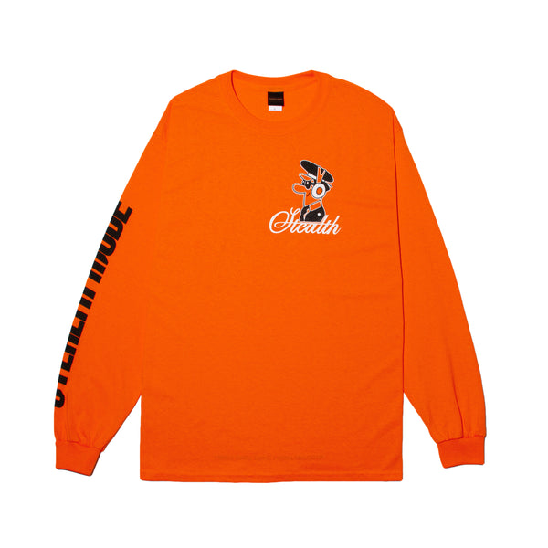 Pilot Logo Long Sleeve - orange - StealthMode