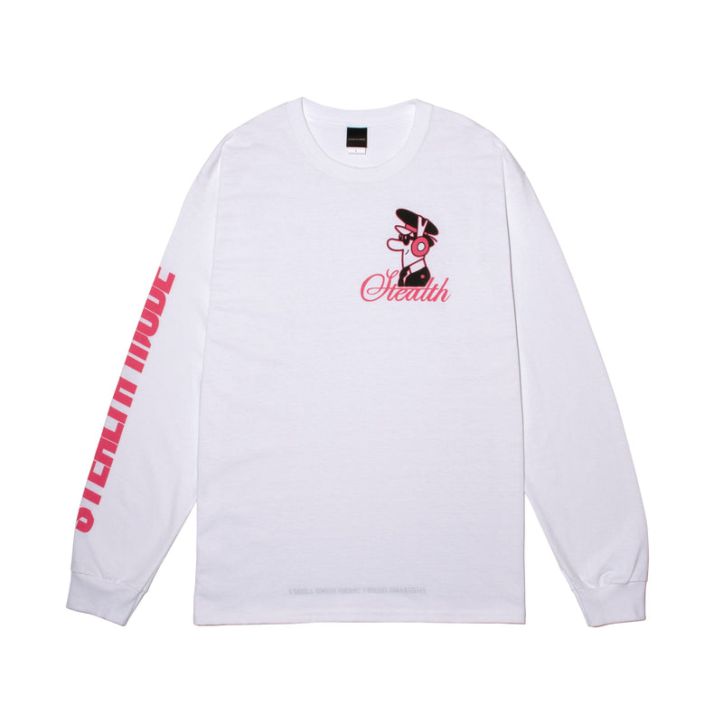 Pilot Logo Long Sleeve - white - StealthMode