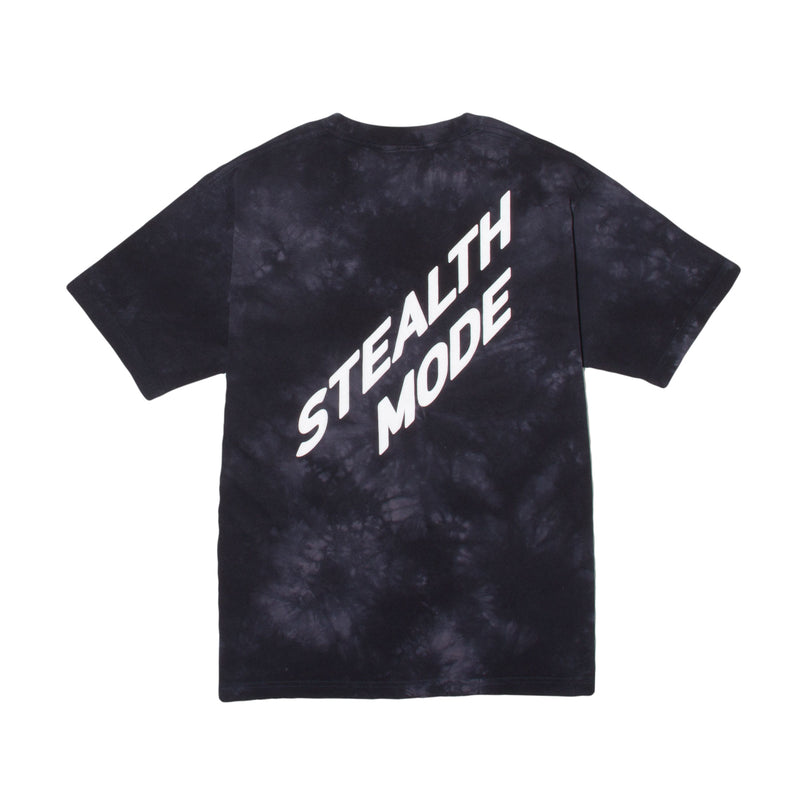 Back Big Logo Tie Dye Tee - Black