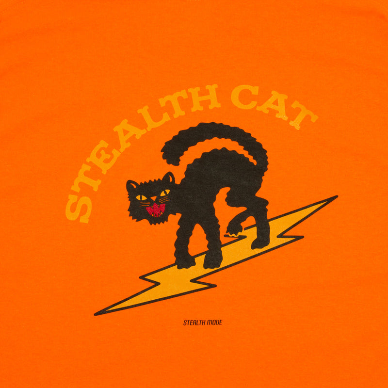 Stealth Cat Long Sleeve Tee - Orange