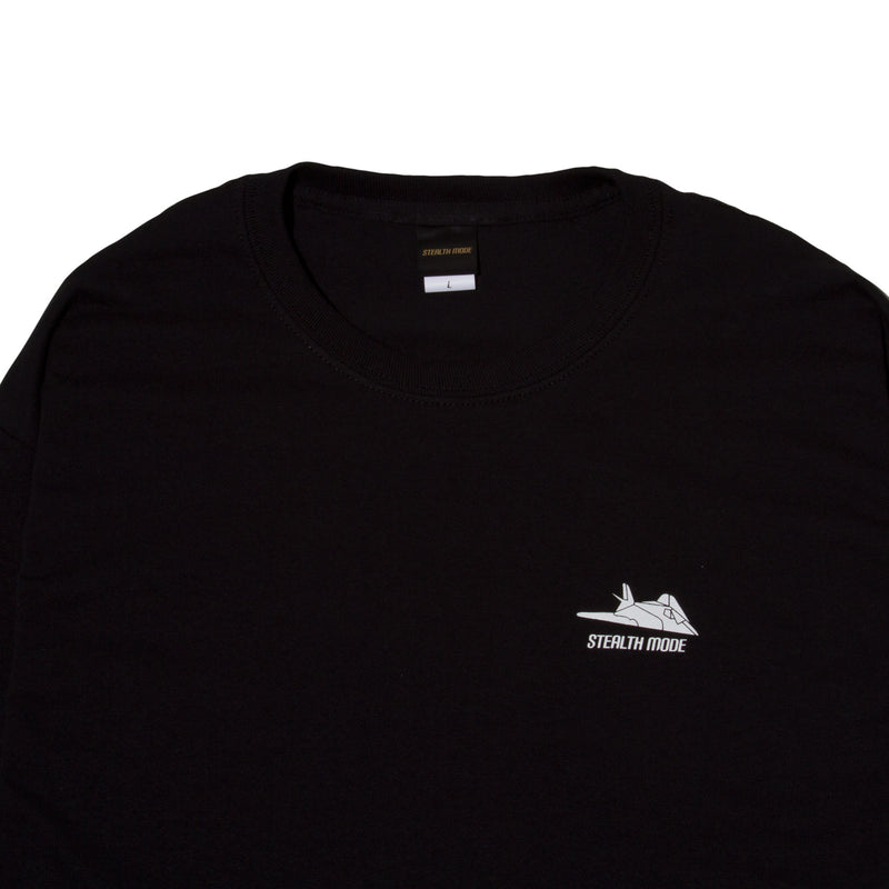 Stealth Cat Long Sleeve Tee - Black