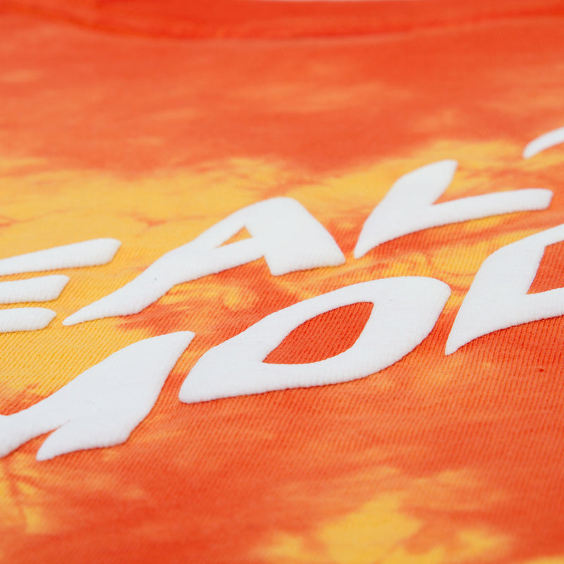 Back Big Logo Tie Dye Tee - Orange