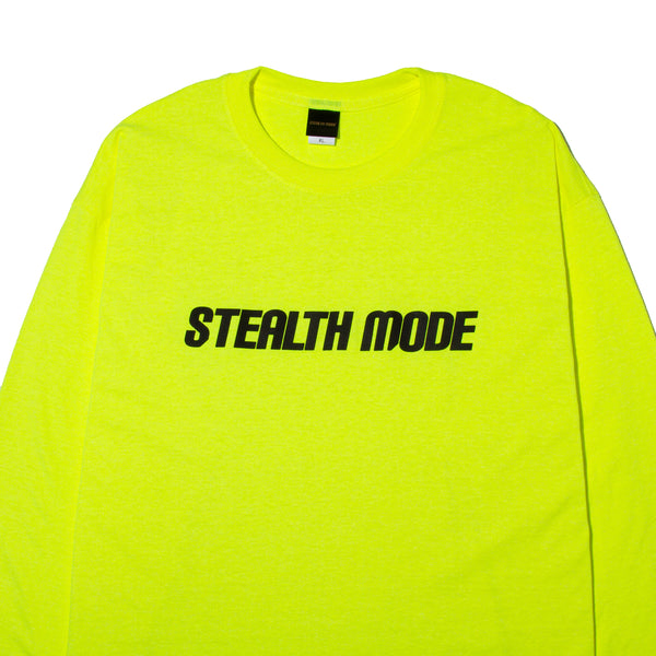 STMD Logo Long Sleeve Tee - Yellow - StealthMode