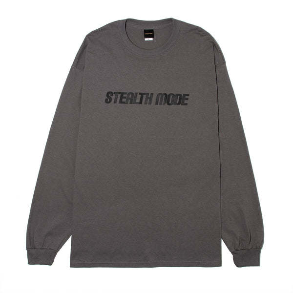 STMD Logo Long Sleeve Tee - D.grey - StealthMode