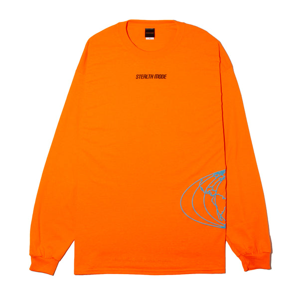 World Map Long Sleeve - Orange - StealthMode
