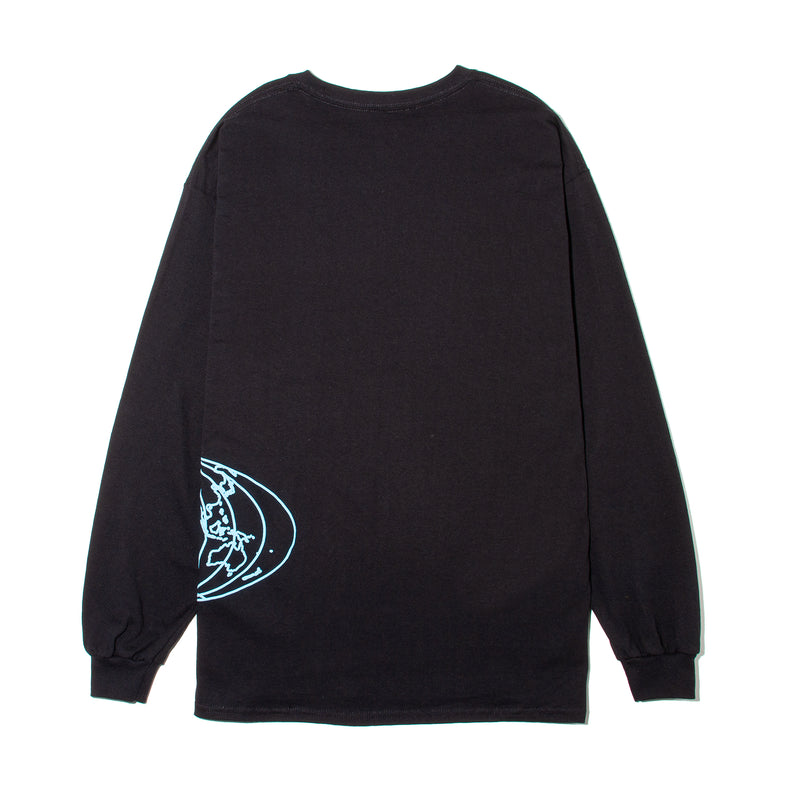 World Map Long Sleeve - Black - StealthMode