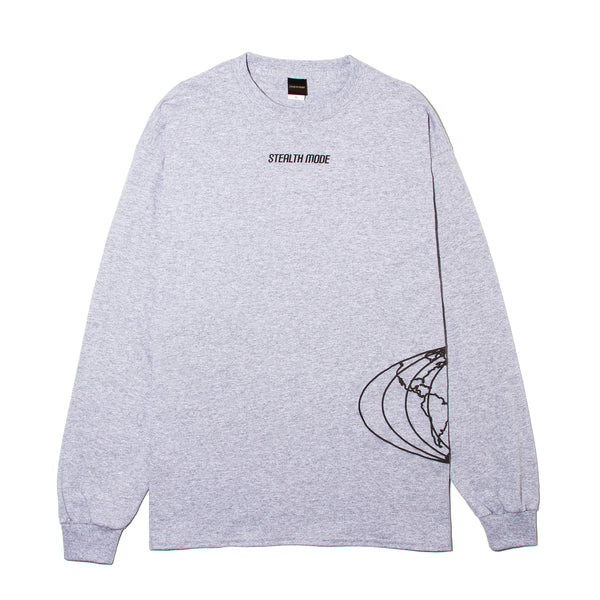World Map Long Sleeve - Grey - StealthMode