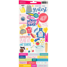 "Load image into Gallery viewer, Damask Love Write At Home Cardstock Stickers 6""X12"" 95/Pkg"