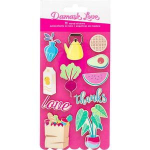 Damask Love Write At Home Printed Wood Stickers 11/Pkg