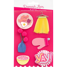 Load image into Gallery viewer, Damask Love Write At Home Dimensional Stickers 6/Pkg