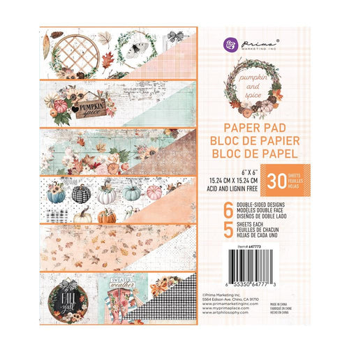 Pumpkin and Spice Double-Sided Paper Pad 6